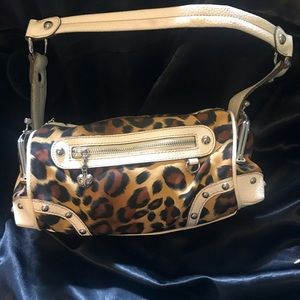 Kathy Van Zeeland Jungle print bag with pockets